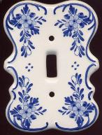 Delft Blue Single Light Switch Cover