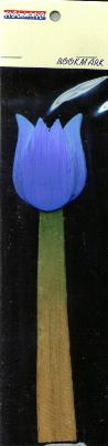 Book Mark Blue Tulip made out of wood 6 inch
