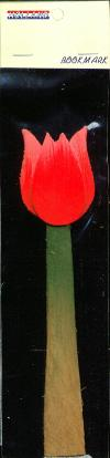Book Mark Red Tulip made out of wood 6 inch
