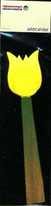 Book Mark Yellow Tulip made out of wood 6 inch