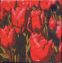 Paper Napkins -- Red Tulips