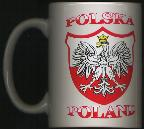 Souvenir Mug White Eagle 3 3/4 inches Product of Poland