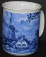 Mug Windmill with Pony Blue 4 inch mug