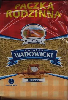 Makaron Nitki Wadowicki - Small noodles can be used for soups 80