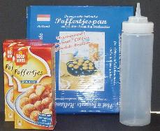 Poffertjes Kit -- Mini Pancakes Kit with Cast Iron Pan