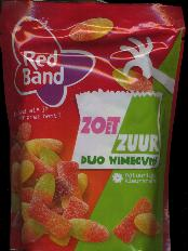 Red Band Zoet Zuur Duo Winegums -- Sweet Sour Winegums