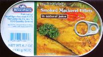 Rugen Fisch Smoked Mackerel Fillets 190g