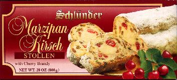 Schlünder Marzipan Christmas Stollen -- with Cherry Brandy 800g