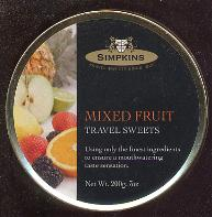 Simpkins Mixed Fruit Travel Sweets Tin 200g