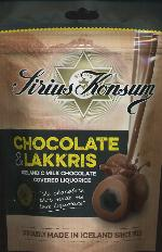 Sirius Konsum Chocolate Covered Licorice 125g