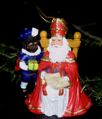 Ornament Sint sitting en Piet