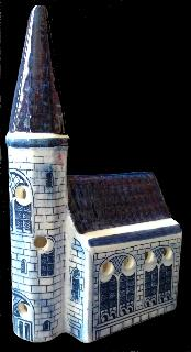 Delft Old Dutch Church 23cm