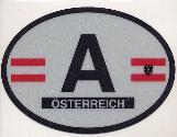 Oval Reflective Decal -- Austria