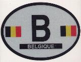 Oval Reflective Decal -- Belgium