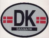 Oval Reflective Decal -- Denmark