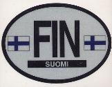 Oval Reflective Decal -- Finland