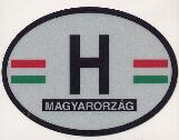 Oval Reflective Decal -- Hungary