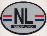 NL Oval Reflective Decal -- Netherlands
