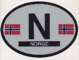 Oval Reflective Decal -- Norway