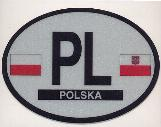 Oval Reflective Decal -- Poland
