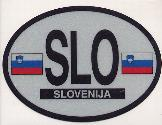 Oval Reflective Decal -- Slovenia