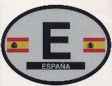 Oval Reflective Decal -- Spain