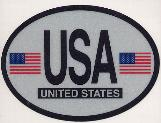 Oval Reflective Decal -- United States