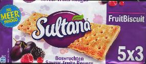 Verkade Sultana Bosvruchten - Forest Fruit - Biscuits --Crackers