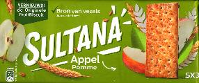 Verkade Sultana Fruit Filled Crackers Apple -- Appel 218g