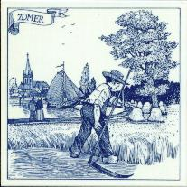 Tile # 082b Delft Blue Summer