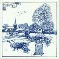 Tile 082d -- Delft Blue Winter -- 6x6 inches