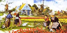 Tulip Picking 2 tile set