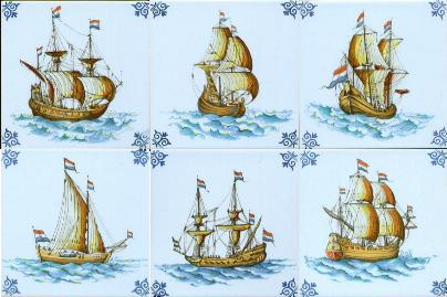 Ships Tile-poly-Handformed 3/8 inch thick Priced each.