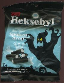 Toms Heksehyl Spoken drop -- Mint Licorice Ghosts 300g