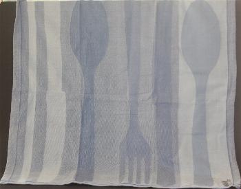 Tea Towel -- Blue Silverware