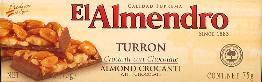 El Almendro Turron Almond Crocanti with Chocolate 75g