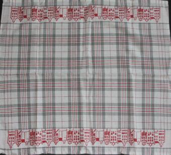 Tea Towel - Canal Red and Grey