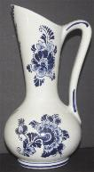Delft Blue Jug Vase w/ Handle