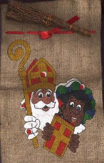 Sinterklaas Zakje met Roe -- bag with switch -- empty