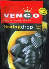Venco Honingdrop Hard Zoet 233g Bag Sweet Honey Licorice