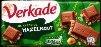 Verkade Hazelnoot - Hazelnut and Milk Chocolate Bar 111g
