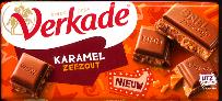 Verkade Karamel Zeezout  -- Caramel Sea Salt Chocolate Bar 111g