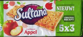 Verkade Sultana Fruit Filled Crackers Apple -- Appel 195g