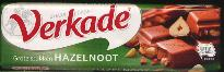 Verkade Milk/Hazelnut Chocolate Bar -  75g