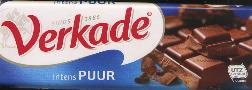 Verkade Puur Chocolade -- Dark Chocolate Bar -  180g