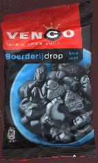 Venco Boerderijdrop Hard Zout -- Farm Shaped Licorice 6oz.