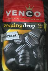 Venco Honingdrop Hard Zoet 255g Bag Sweet Honey Licorice