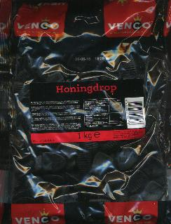 Venco Honingdrop 1 Kilo Bag  Honey Licorice
