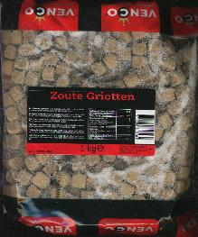 Venco Griotten / Salmiak Cubes 1 Kilo Bag
