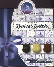 Voor Jou! -- For You Dutch Chocolate Tulips in Delft Box 100g
